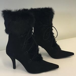 Enzo Angiolini Black Suede Boots - NEW